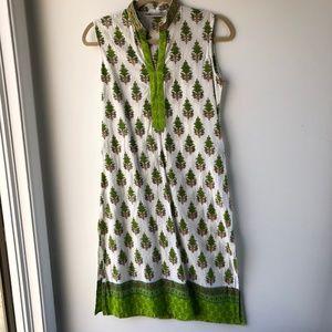 Cotton Kurti Tunic Top India Westside XS Green